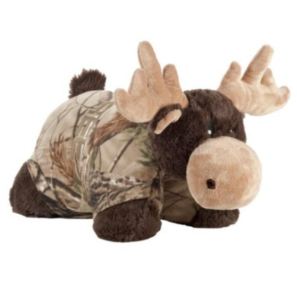 pillow pet camouflage cute moose pillow moose pillow pet pillowpet pillow camouflage moose stuffed animal deer