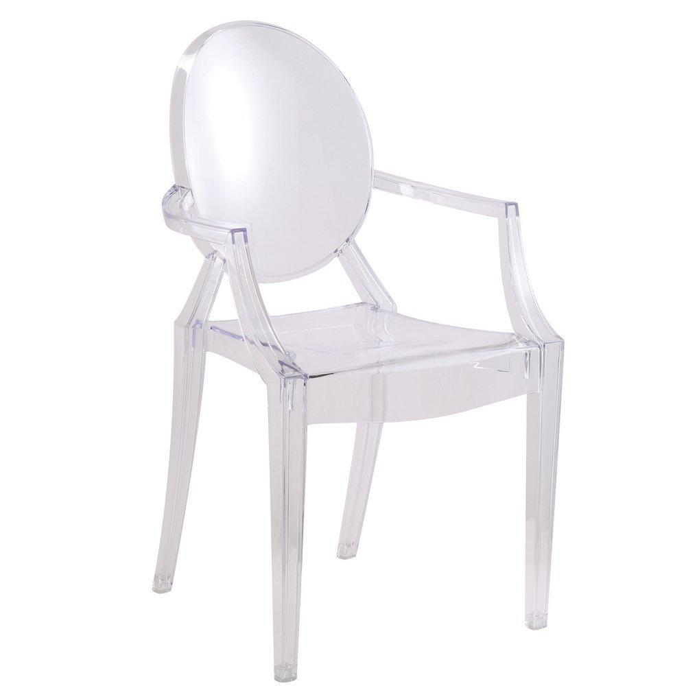 Amazoncom  Designer Modern Louis Ghost Arm Chair