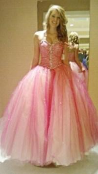Dress: pink, prom dress, poofy dress, poofy, girlfriend ...