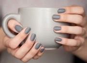 nail polish nails grey matte