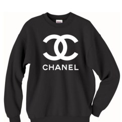 Noir Furniture Chairs Dental Chair Position For Scaling Chanel Crewneck Sweatshirt Dope Brand Swag Crew Neck By Ideenr