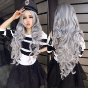 hair accessory wig cosplay grey