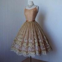vintage, tea length dress, prom, prom dress, prom dress ...