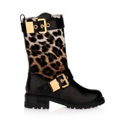Leopard High Heel Chair Zebra Print Desk Lady Heels Giuseppe Zanotti Black Calfhair And