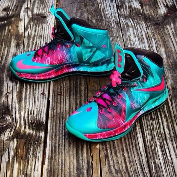 Shoes teal lebron james  Wheretoget
