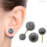 jewels, diamonds, earrings, ball earrings, 14k gold