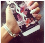 nail polish art phone cover