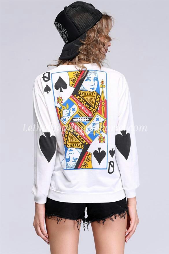 lethalbeauty  Queen of hearts sweatshirt