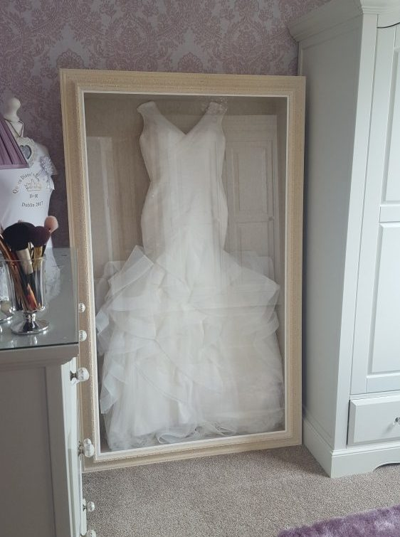 Wedding Dress Frame  Framing Guru  Picture Framing