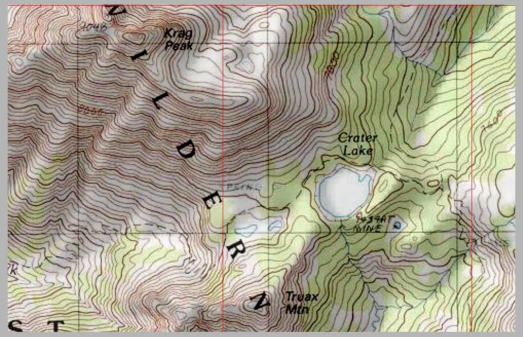 Crater Lake Topographic Map.Crater Lake Topographic Map