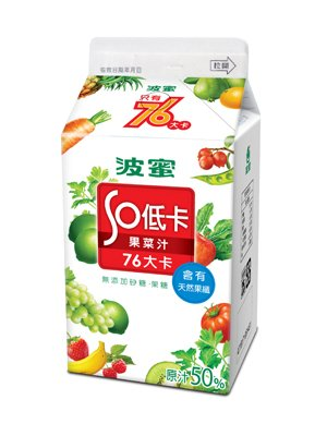 臺灣食品產業發展協會-食品安全::商品推薦 (波蜜低卡果菜汁)