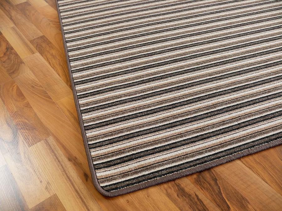 Streifenberber Teppich Braun Stripes  Kaufen bei teppichversand24