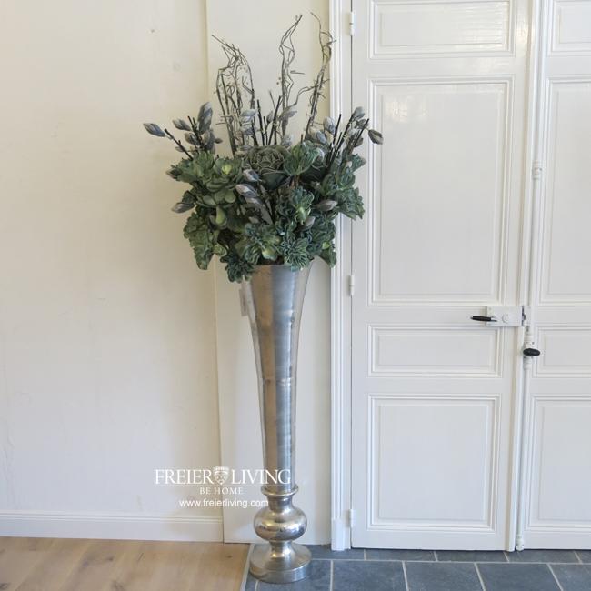 Bodenvase ca 135 cm Groe Aluminum Vase Gefs Impressionen