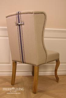 Leinen Esszimmerstuhl Stuhl Elegant Shabby Chic Sessel  Kaufen bei Helga Freier