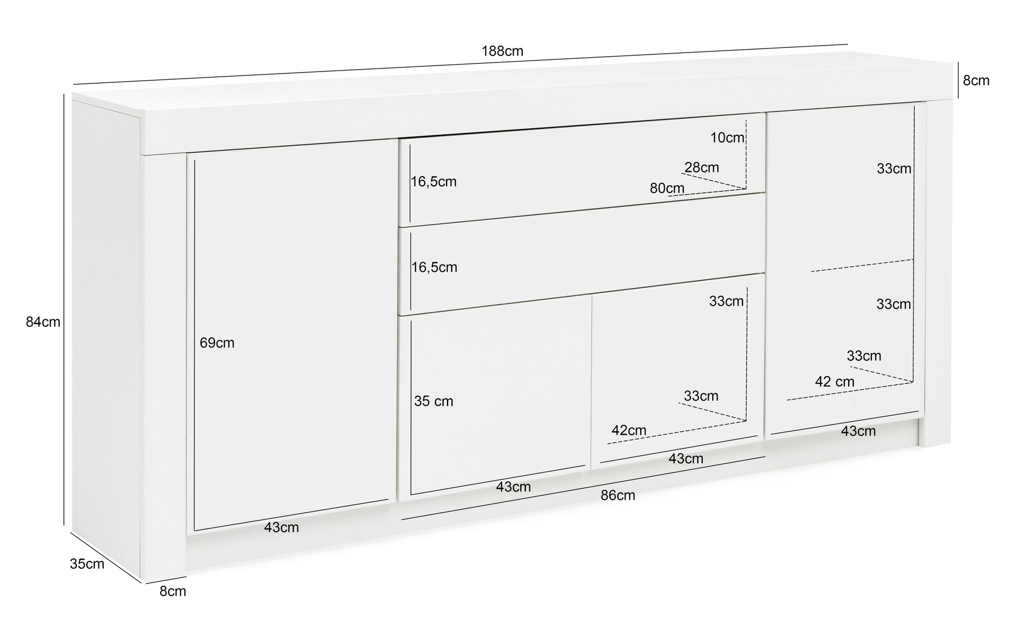 Kommode 35 Tief Weiss. Top Kommode Wei Xx Bad Hemnes