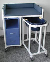 Klinik: WK7 - rollbare Wickelkommode Babywanne Klinik ...