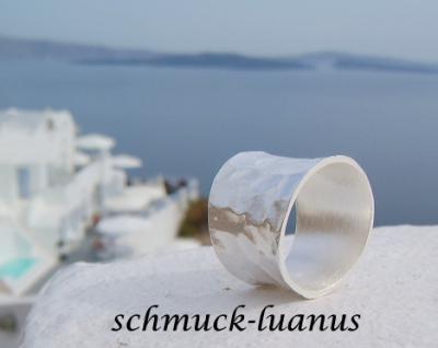 Breiter Silberring gehmmert  Kaufen bei schmuckluanusyategocom