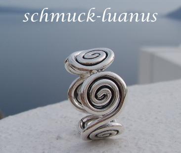 Silberring Spirale  Kaufen bei schmuckluanusyategocom