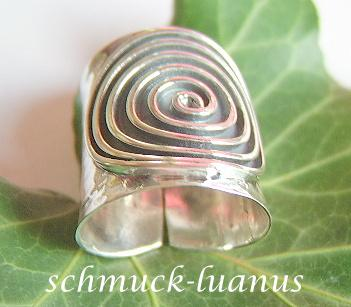 Silberring breit Spirale  Kaufen bei schmuckluanus