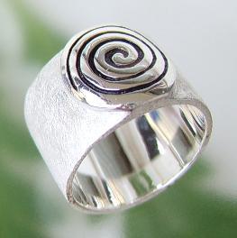 Silberring Spirale