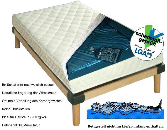 Wasserbett Matratze Exklusiv Hhe 16 cm komplette Wassermatratze mit Beruhigung mittel oder