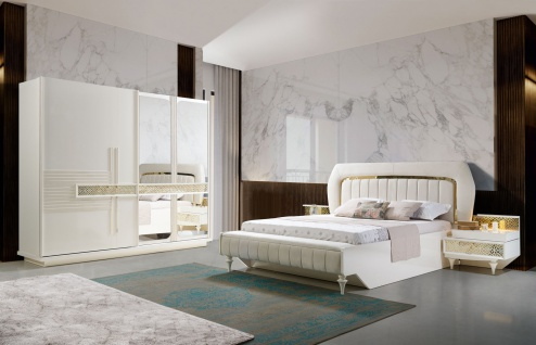 MOKKO Schlafzimmer Komplett-Set, modernes Barock ...