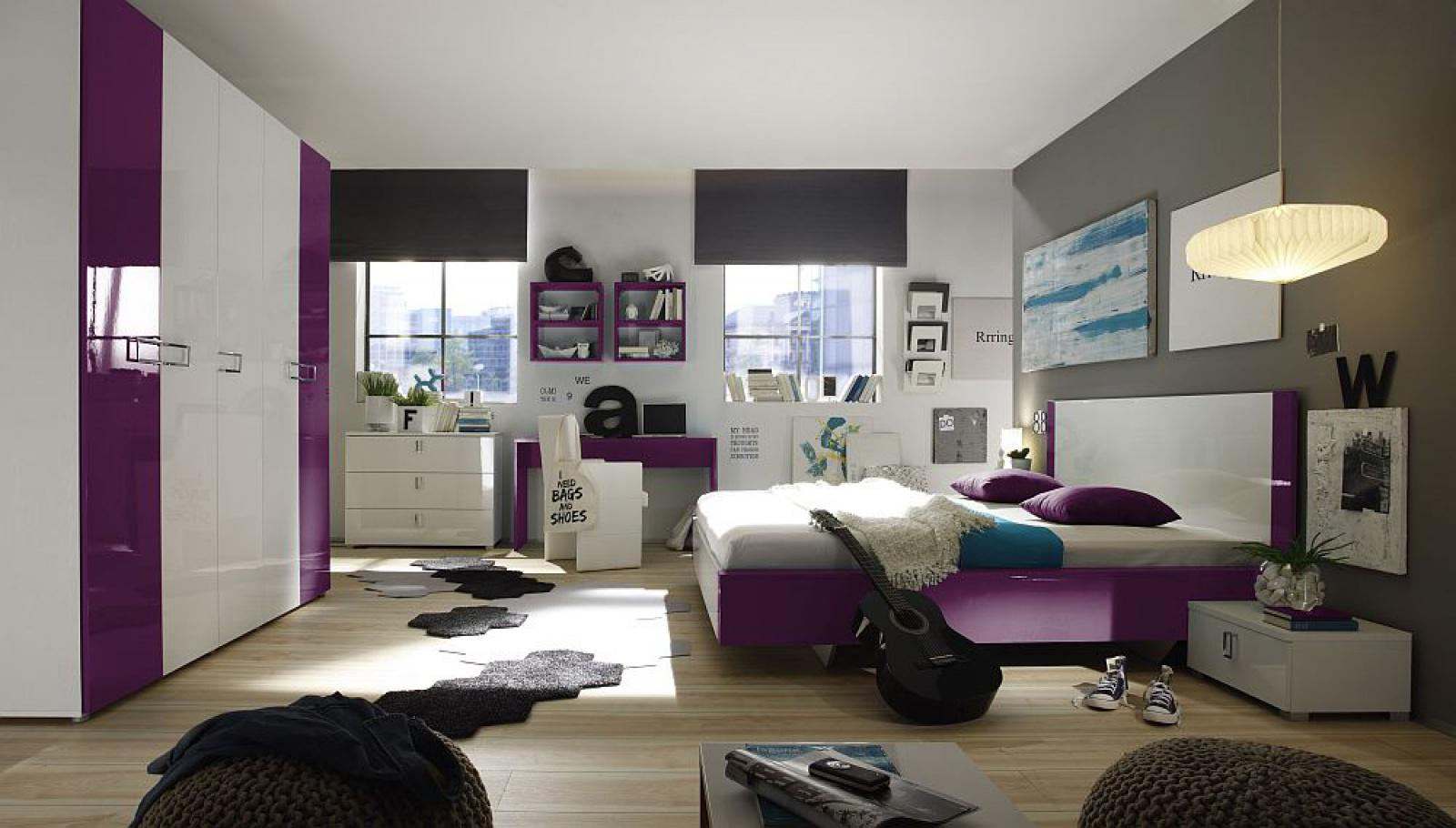 jugendzimmer t rkis lila moderne schlafzimmer gestaltung schwarz ... - Trkis Bilder Frs Schlafzimmer