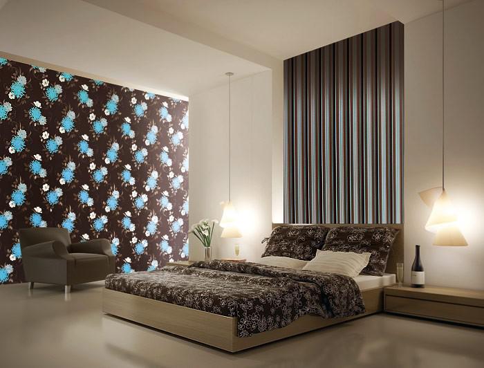Design Wohnzimmer Farben Braun Wandgestaltung Wohnzimmer Streifen ... Wohnzimmer Farben Grau Streifen