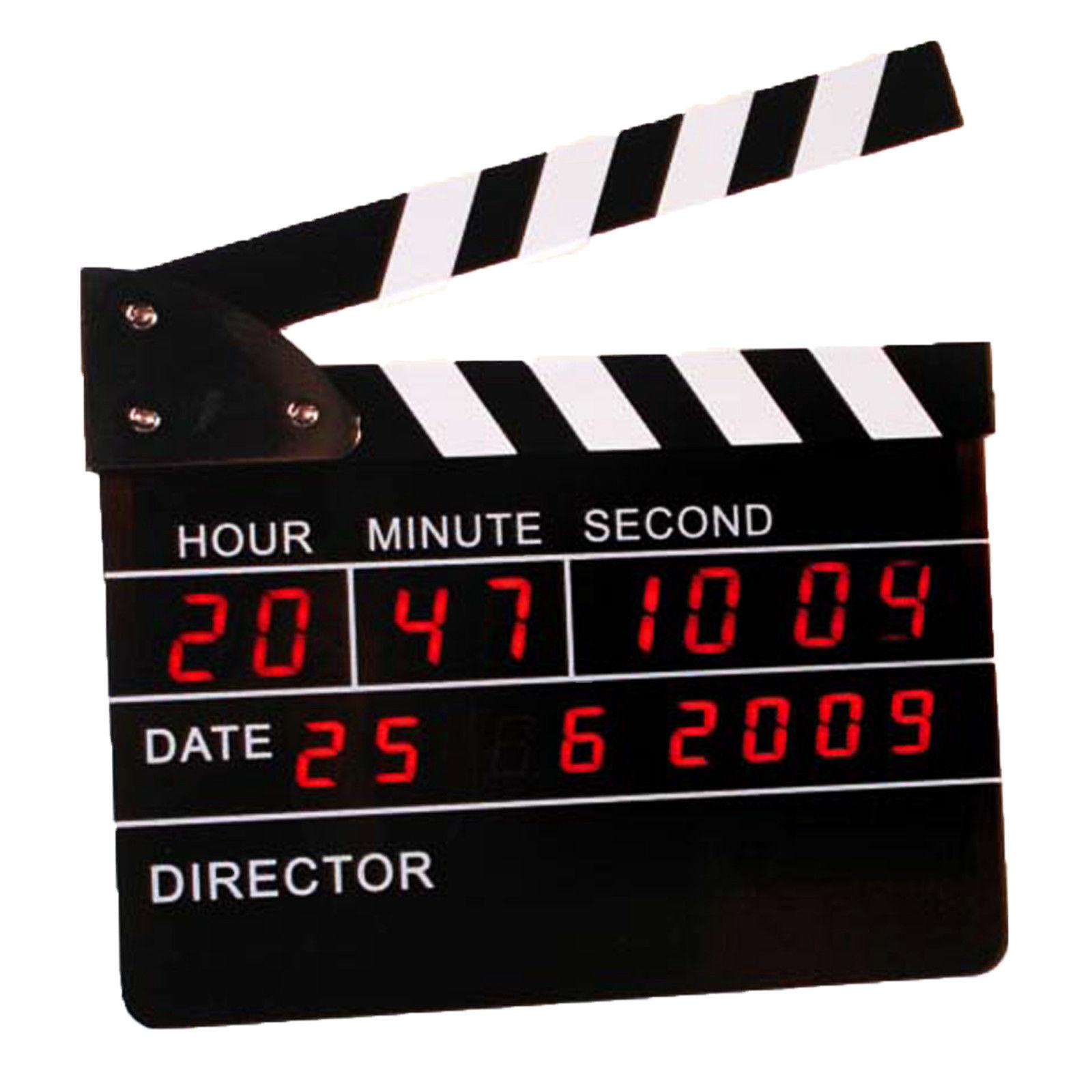 Wecker Digital Kind Digitale Regieklappe Filmklappe Uhr Clapperboard