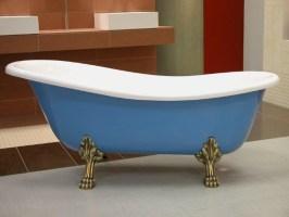 Freistehende Luxus Badewanne Jugendstil Roma Hellblau/Weiß ...