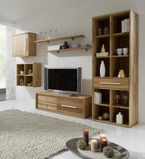 Wohnwand Wohnzimmerwand Wohnzimmer TVWand Kernbuche