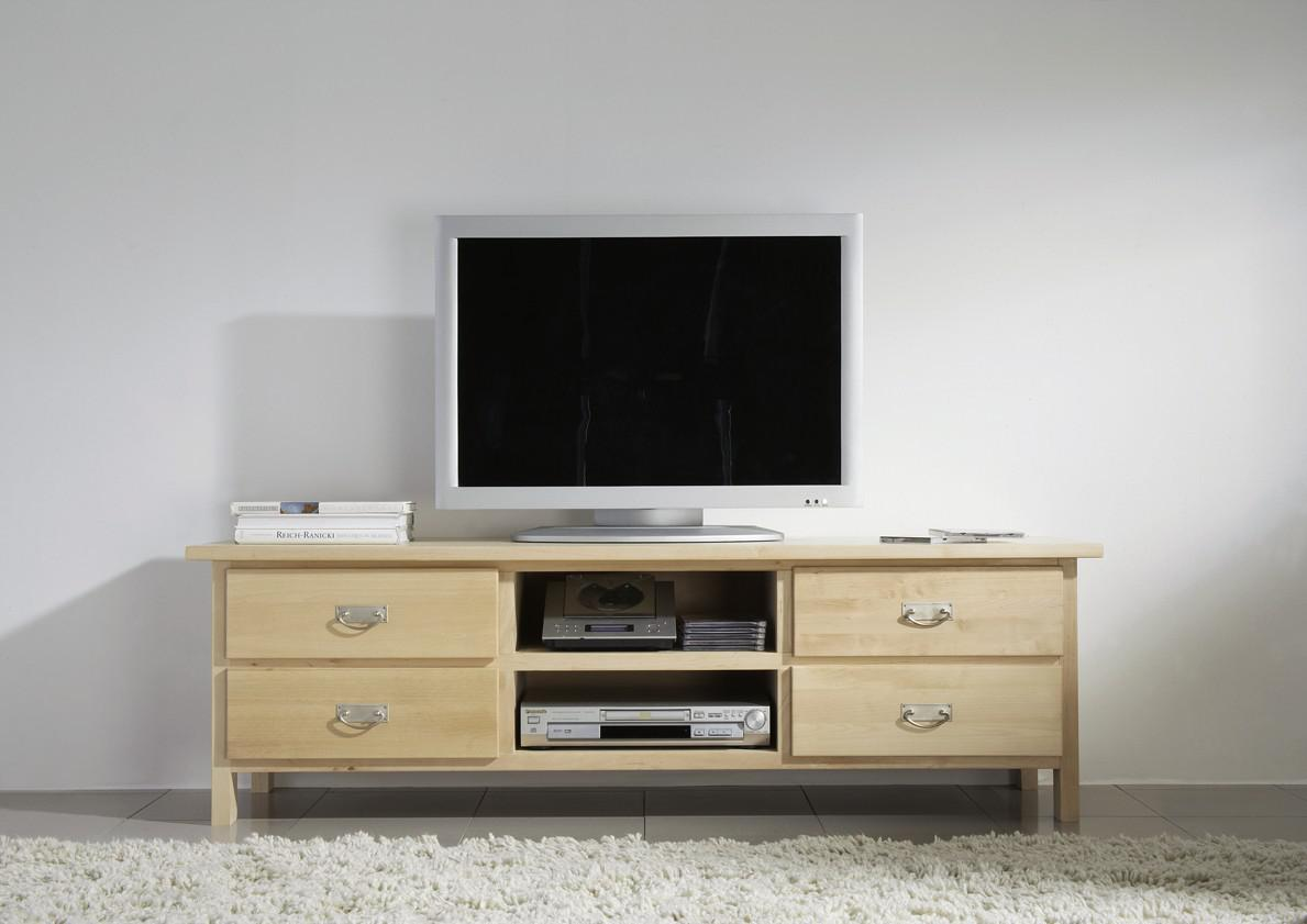 Wohnwand Wohnzimmerwand Wohnzimmer TVWand Birke massiv
