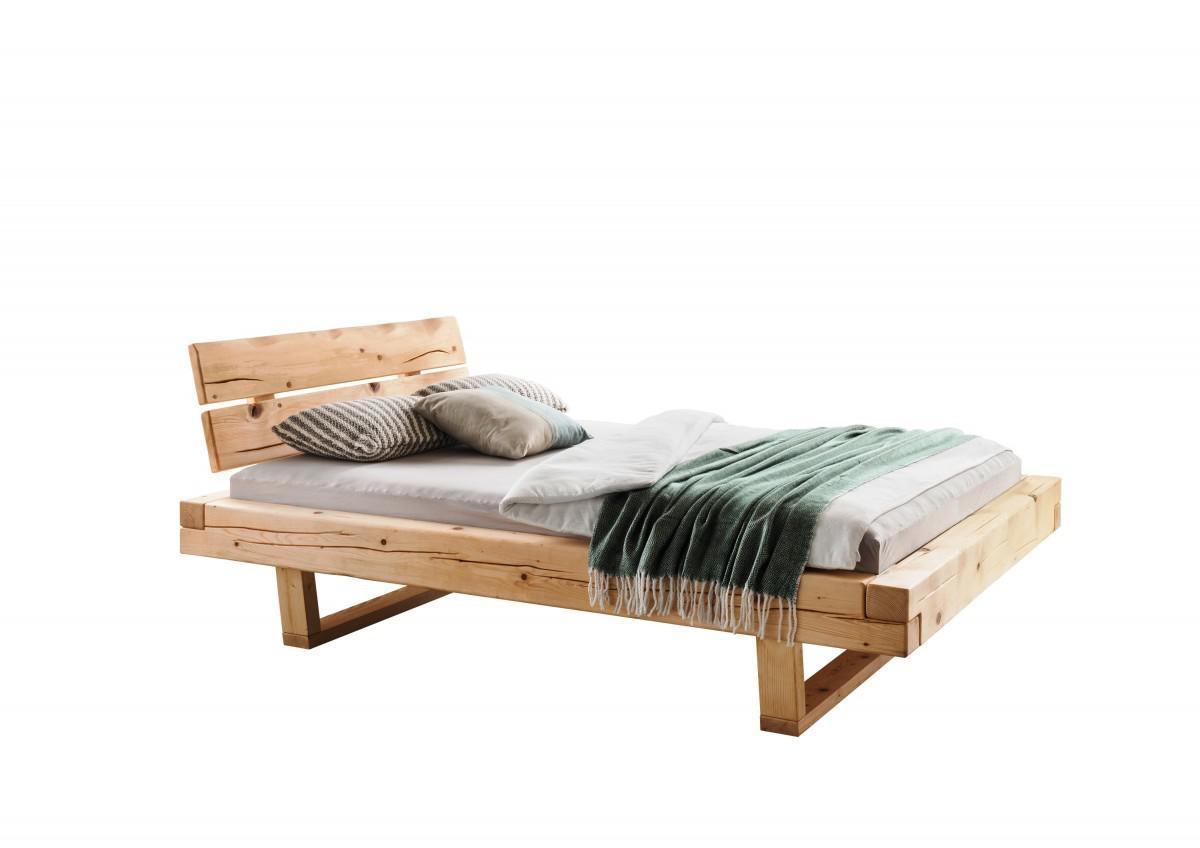Holzbett Schlafzimmer Bett Holz Kiefer Massiv Braun Schwarz 90x200