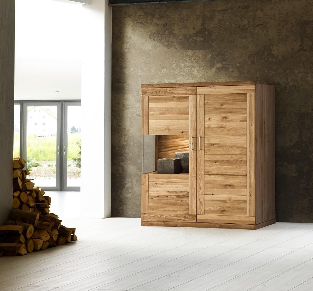 Anrichte Wohnzimmer Sideboard Celio 4 Weiss Eiche 169x101x40 Cm