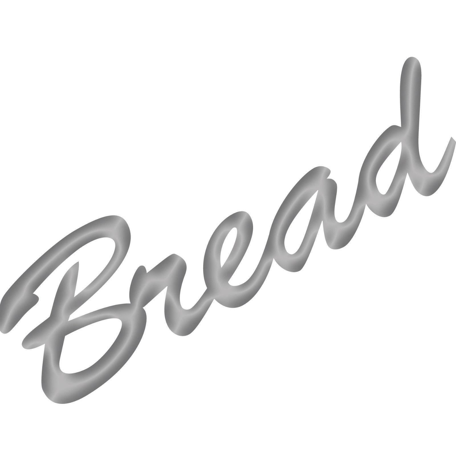 Bread 20cm silber Schriftzug Wandtattoo Aufkleber Tattoo