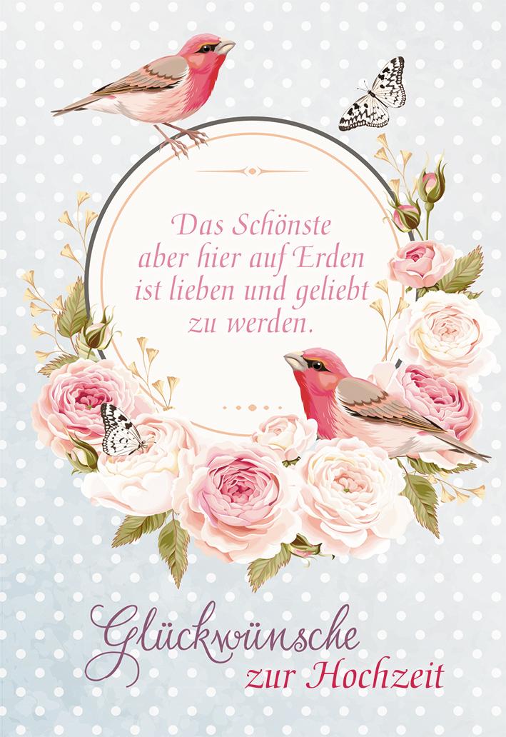 Glckwunschkarte Glckwnsche zur Hochzeit 6 St Rosen