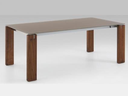 Venjakob Esstisch Typ ET596 Tisch massiv Glas fr Esszimmer Gre Ausfhrung und Klappeinlage