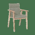 Standard Furniture Stuhl Arona Polsterstuhl Mit Armlehnen Bezug Grun Massivholzgestell Eiche Bianco Und Schwingrucken Stuhl Fur Esszimmer Und Kuche Kaufen Bei Alco Mobel Gmbh Wohnzentrum