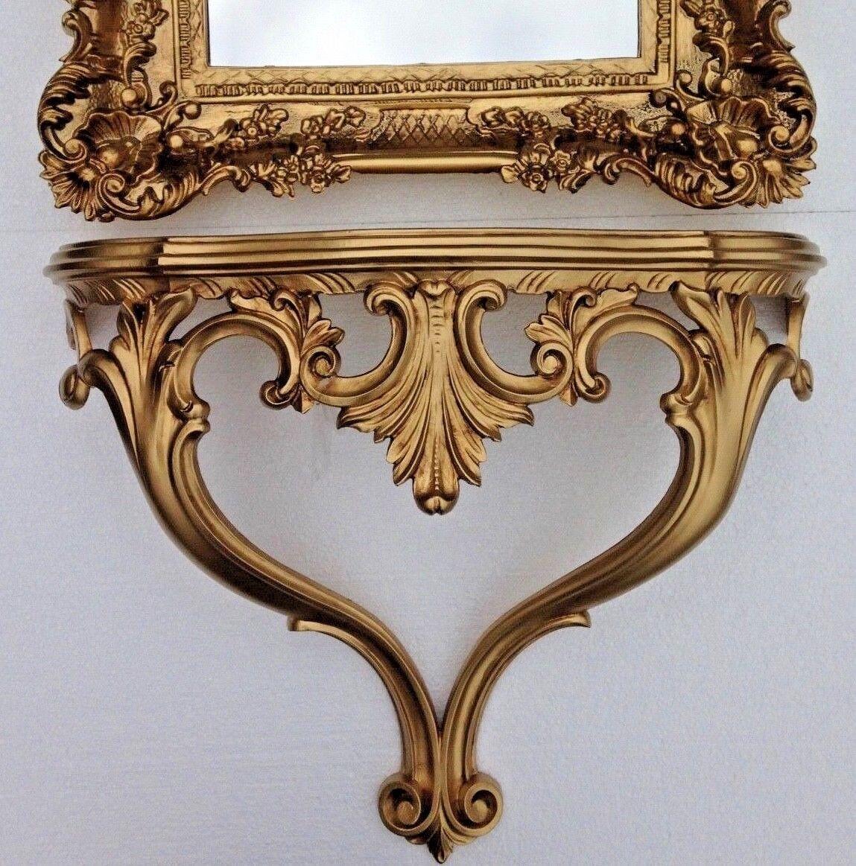 Bath Caddies & Storage Ablage Gold Konsole Barock Wandkonsole Engelsflügel Wandboard Wandablage Antik Cheap Sales
