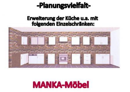 Kchenzeile MANKAPORTABLE 15 Kche 220cm Kchenblock in