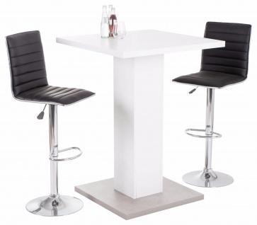 elegant cheap simple design bartisch wei betonoptik sockel stehtisch kchentisch gnstig preiswert with brotisch weiss with brotisch weiss with kchentheke
