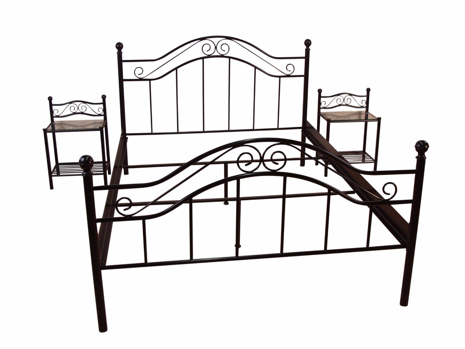 metallbett schwarz 90x200 aingoo bettgestell 90x200 metallbett bettrahmen mit lattenrost f r. Black Bedroom Furniture Sets. Home Design Ideas