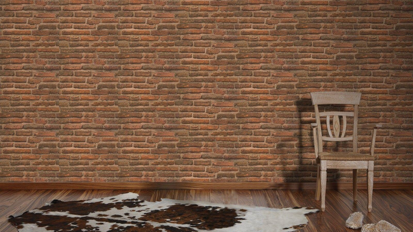 Kuchenruckwand Ziegelstein Steinimitattapete Ursprngliche