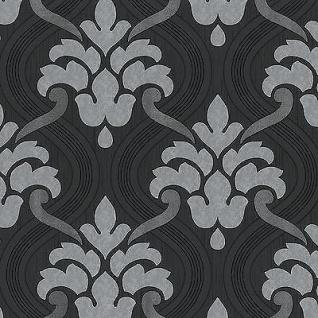 Vlies Tapete Barock Muster Ornament schwarz wei rot pink metallic glitzer  Kaufen bei