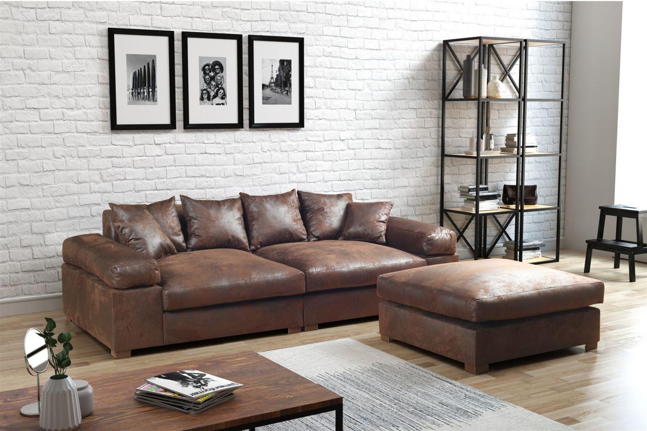 domicil arezzo sofa how to cover a with throw interio u form federkern das beste mit hocker