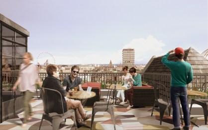 Roof Terrace - Artist's Impression