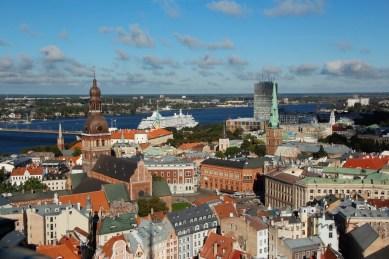 wunderschöner Blick über Riga