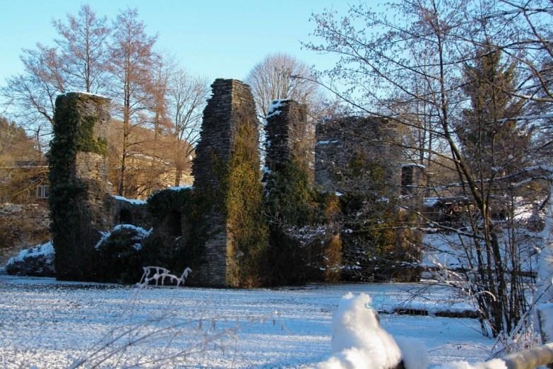 still & starr ruht die Ruine Eibach / Winter 2016/17
