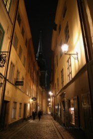 Stockholms Gamla Stan by night