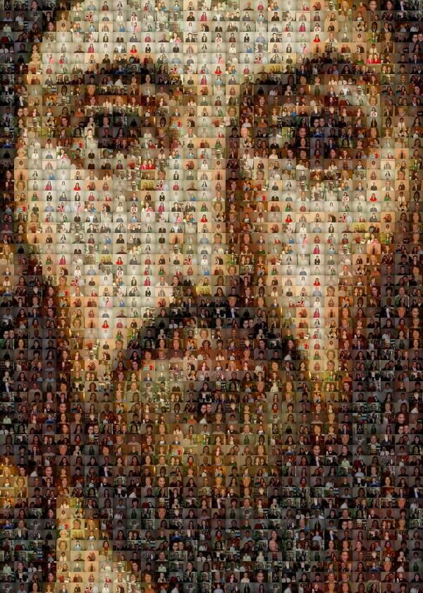 Mosaic Jesus Christ Face